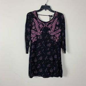 Embroidered boho dress target size small